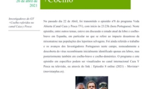 Investigadores do GT  +Coelho referidos no  canal Caza y Pesca